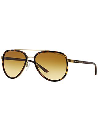 Michael Kors MK5006 Polarised Aviator Sunglasses, Tortoise