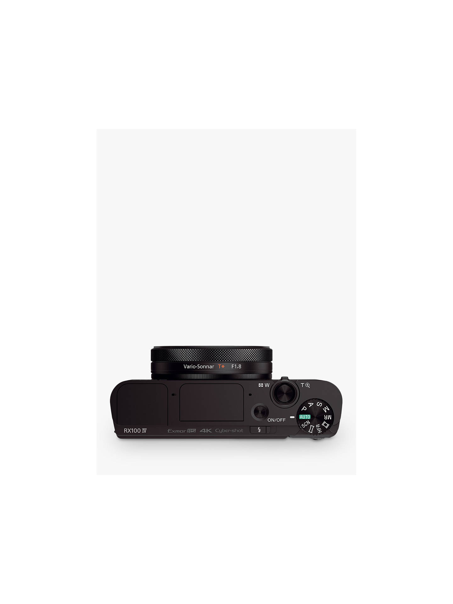 "Buy Sony Cyber-shot DSC-RX100 IV Camera, 4K, 20.1MP, 2.9x Optical Zoom, Wi-Fi, NFC, OLED EVF, 3"" Tiltable Screen Online at johnlewis.com"