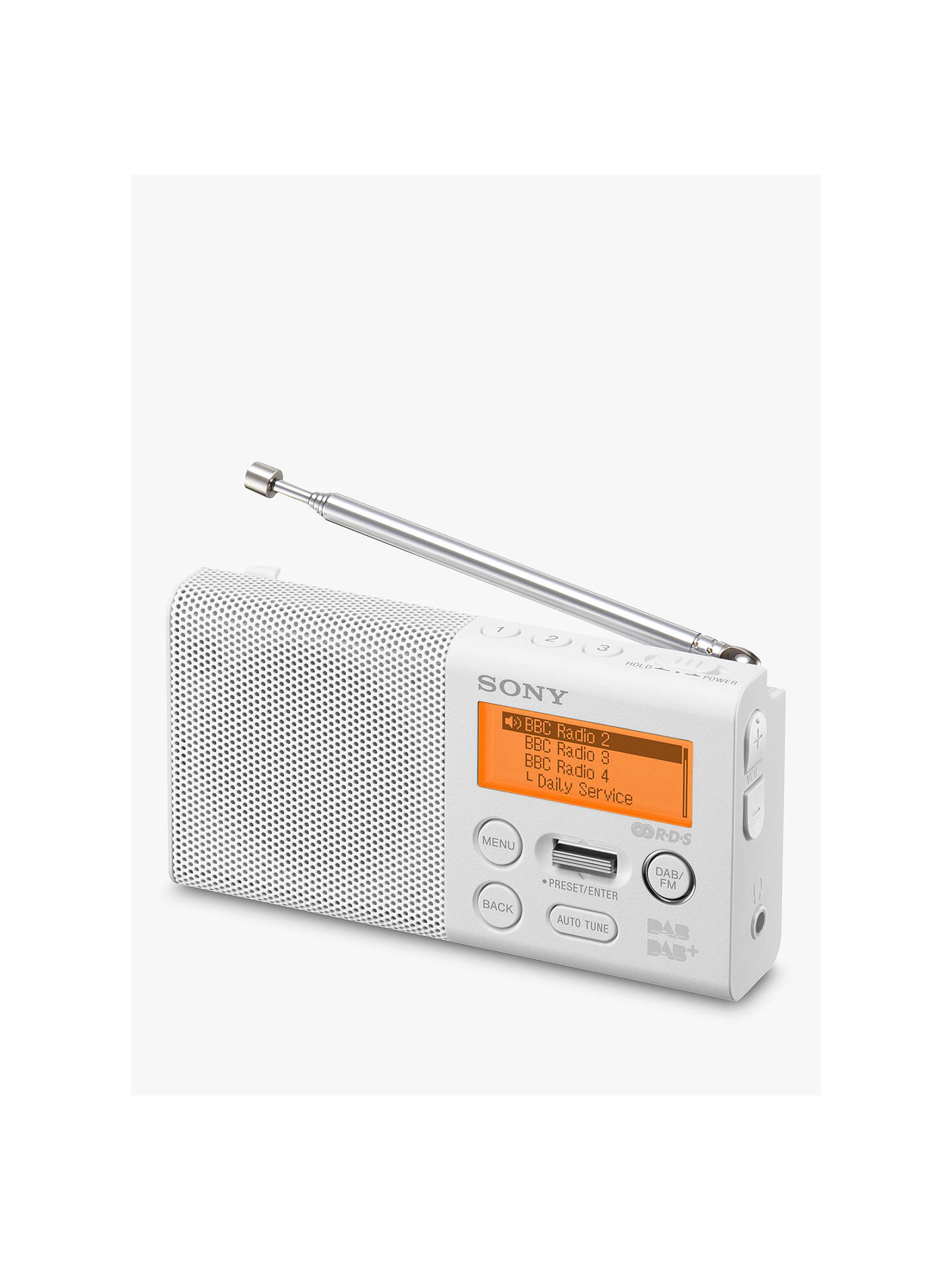 Sony Xdr P1 Portable Dab/Dab+/Fm Digital Radio, White by Sony