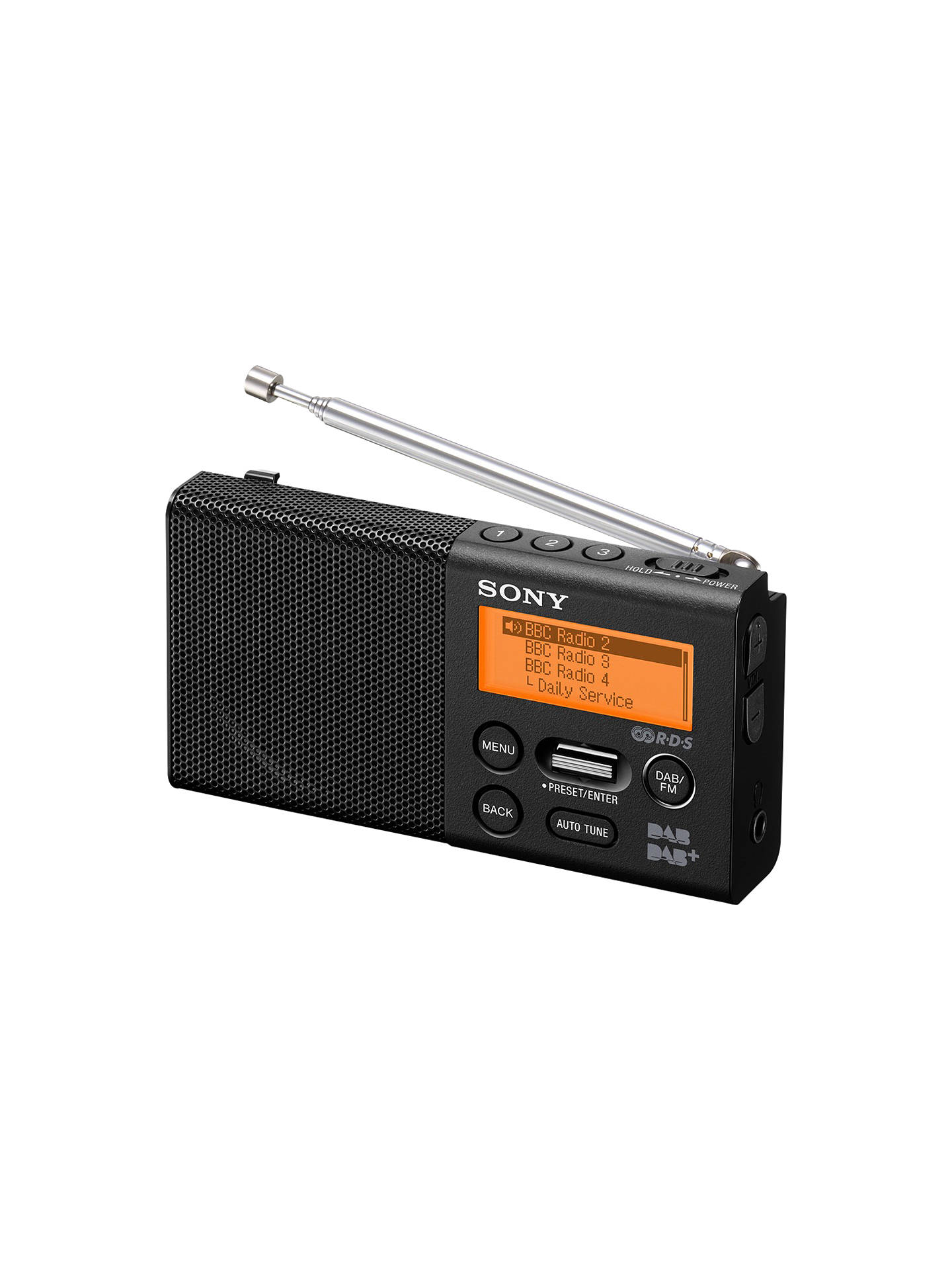 sony xdr p1 portable dab dab fm digital radio at john lewis partners. Black Bedroom Furniture Sets. Home Design Ideas