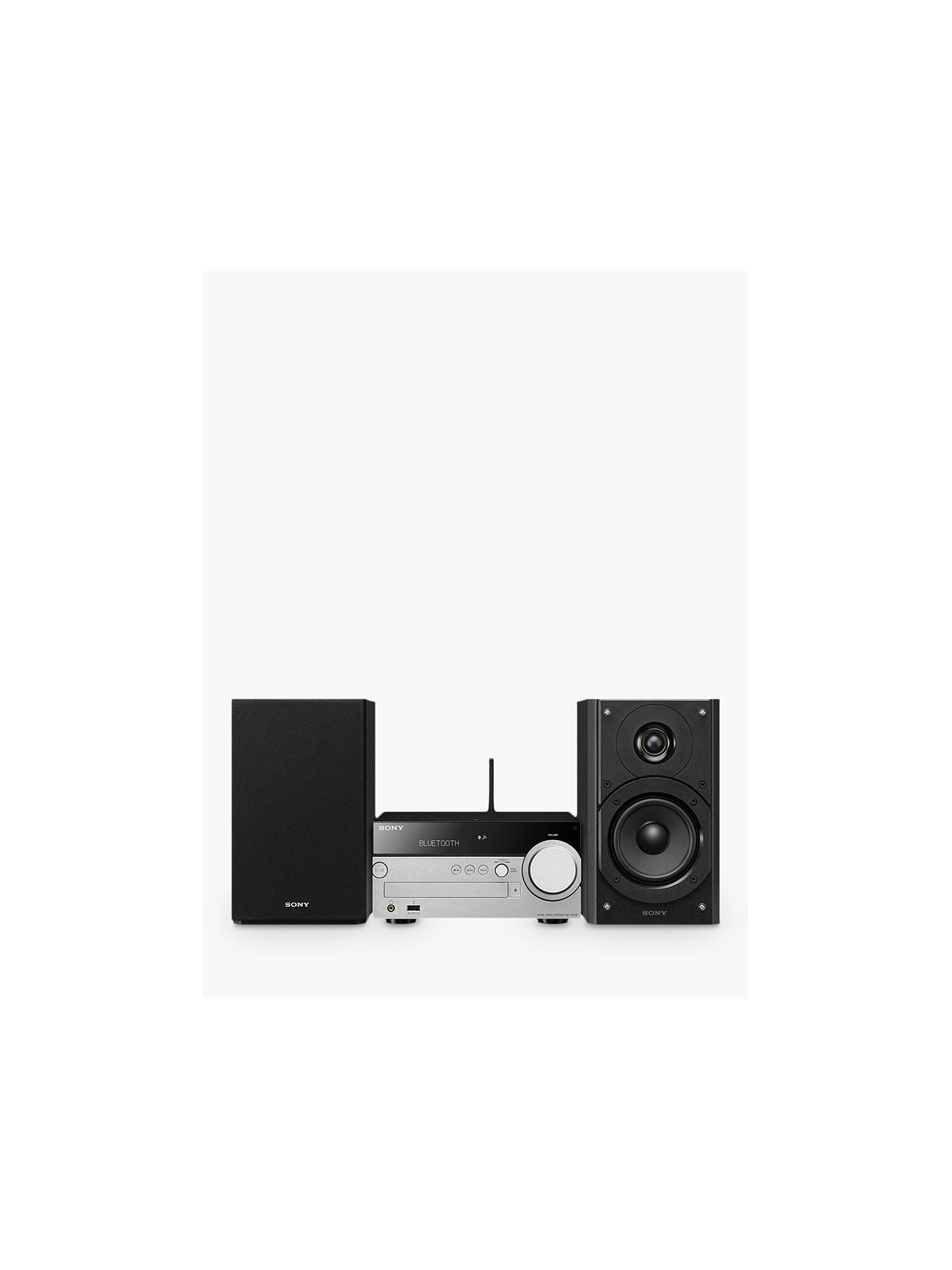 Buy Sony CMT-SX7B DAB/FM/CD Bluetooth NFC Wi-Fi Micro Hi-Fi System, Black Online at johnlewis.com