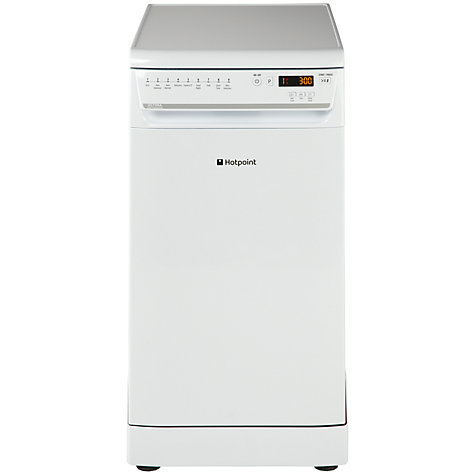 Buy Hotpoint Ultima SIUF22111P Freestanding Slimline Dishwasher, White Online at johnlewis.com