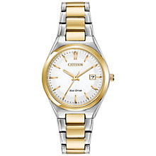 Buy Citizen EW1974-54A Women's Two Tone Bracelet Strap Watch, Gold/Silver Online at johnlewis.com