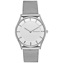 Buy Skagen SKW2342 Women's Holst Mesh Bracelet Strap Watch, Silver/White Online at johnlewis.com