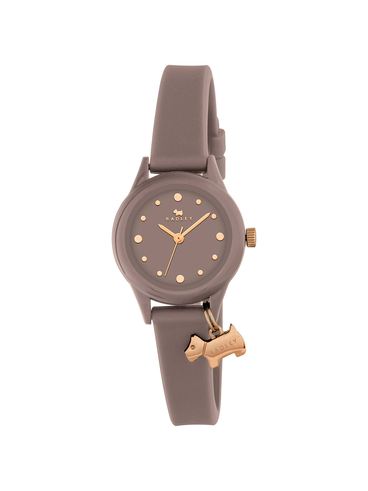 BuyRadley Women's Watch It Silicone Strap Watch, Taupe RY2322 Online at johnlewis.com