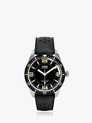 Oris 01 733 7707 4064-07 4 20 18 Men's Divers 65 Rubber Strap Watch, Black