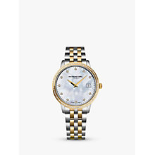 Buy Raymond Weil 5388-SPS-97081 Women's Toccata 91 Diamonds Two Tone Bracelet Strap Watch, Silver/Gold Online at johnlewis.com