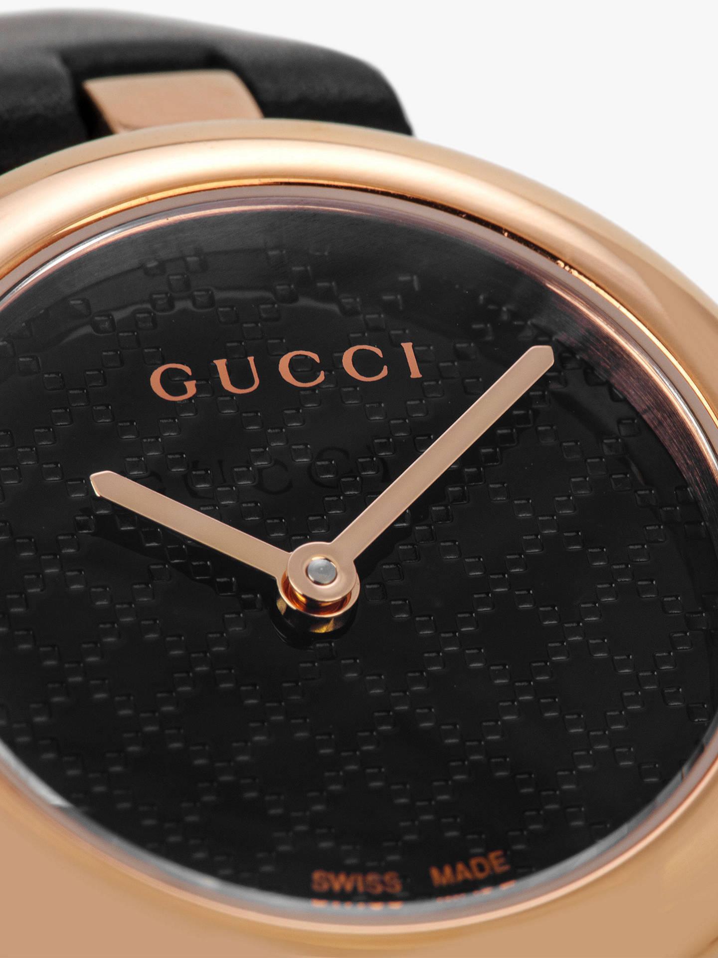 fcff1d9539f ... Buy Gucci YA141501 Women s Diamantissima Leather Strap Watch