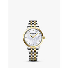 Buy Raymond Weil 5388-STP-97081 Women's Toccata 11 Diamonds Two Tone Bracelet Strap Watch, Silver/Gold Online at johnlewis.com