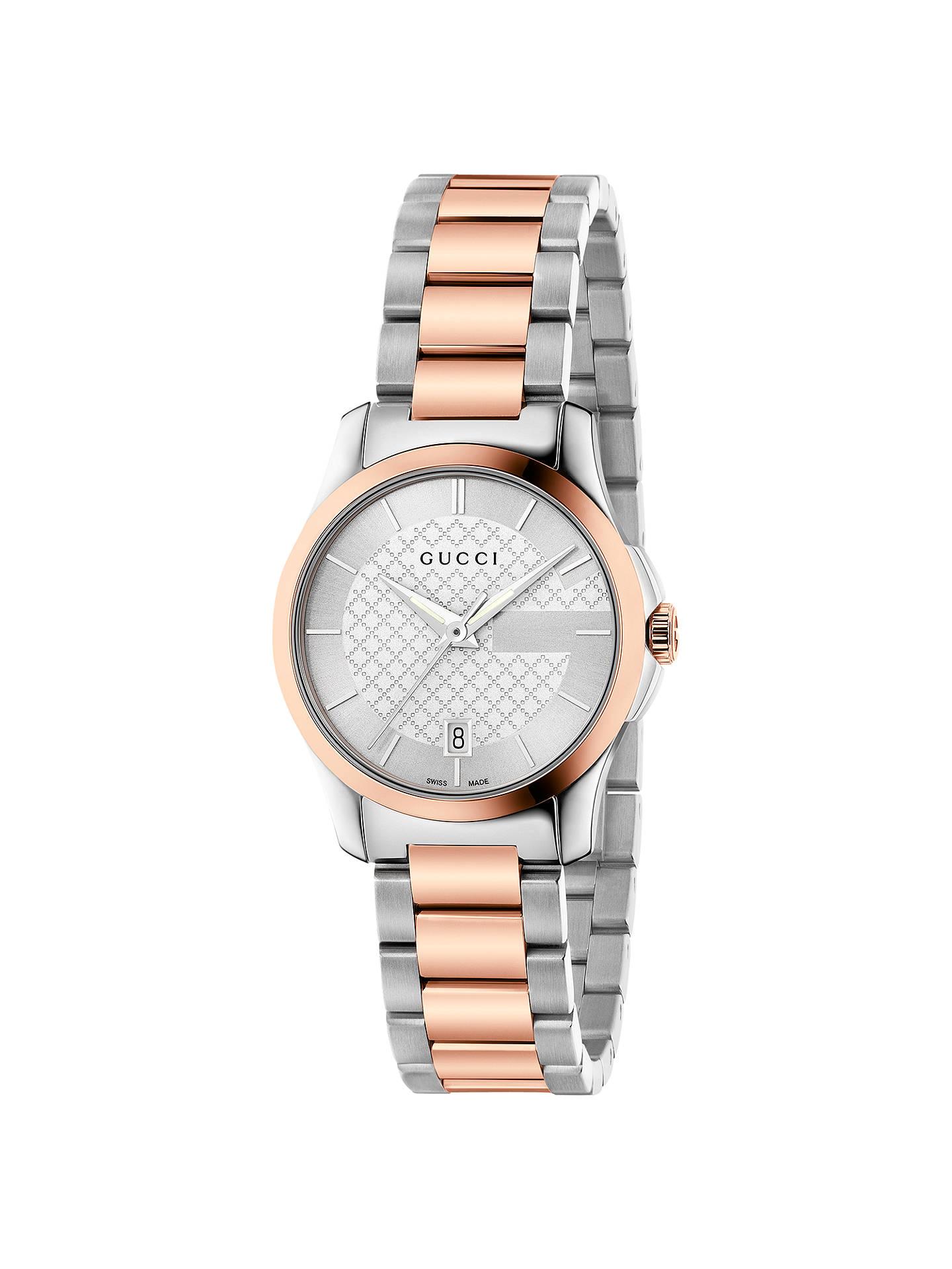 14a76cd549a Buy Gucci YA126528 Women s G-Timeless Rose Gold Plated Date Bracelet Strap  Watch