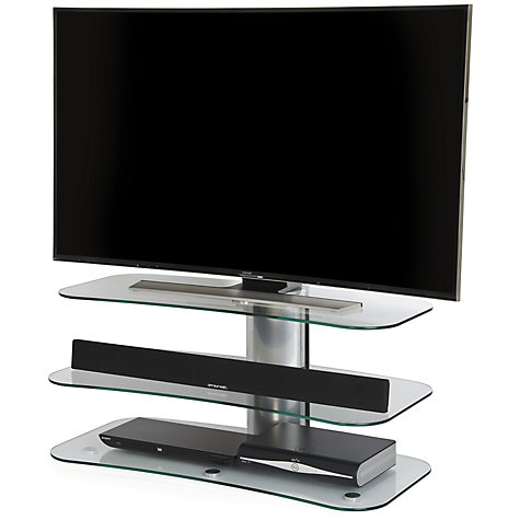 buy off the wall skyline arc1000 silver tv stand for curved screen tvs up to 55