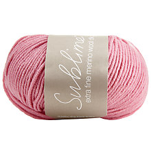 Buy Sirdar Sublime Extra Fine Merino Yarn, 50g Online at johnlewis.com