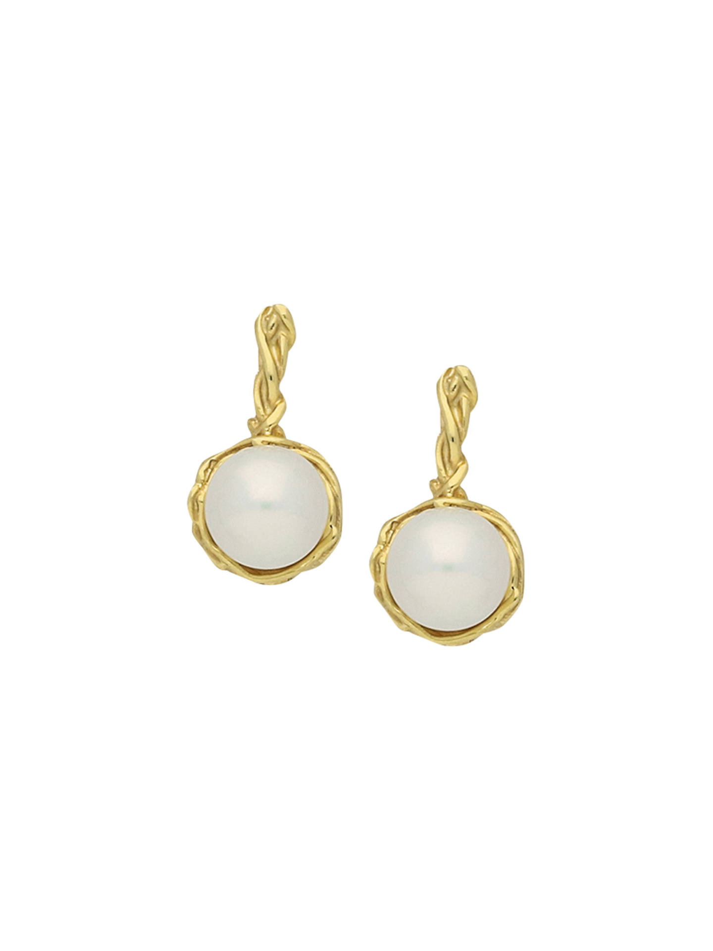 d5a0566e9 Buy London Road 9ct Gold Burlington Willow Drop Pearl Earrings, Gold Online  at johnlewis.