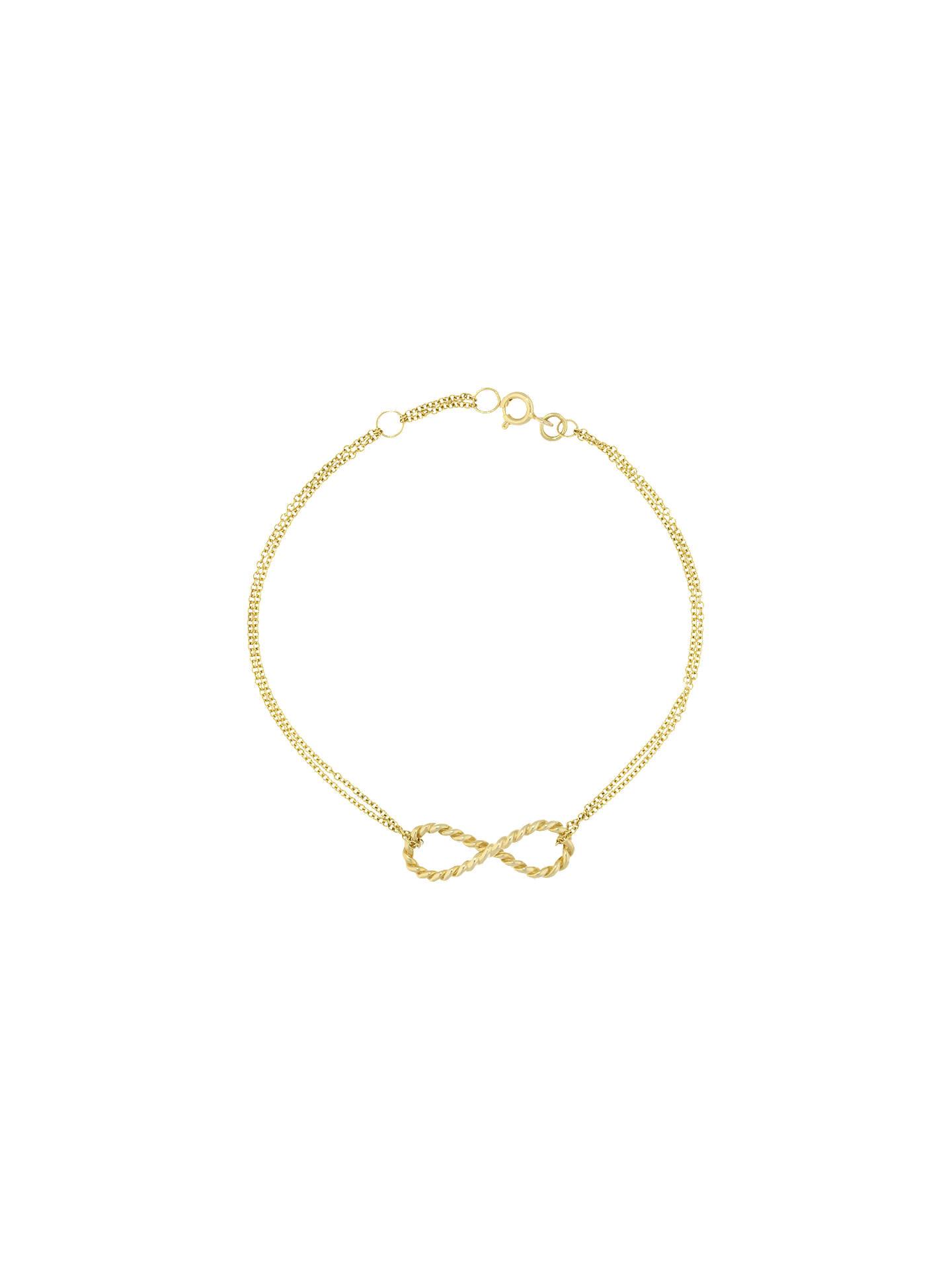BuyLondon Road 9ct Gold Infinity Bracelet 7fe1db986