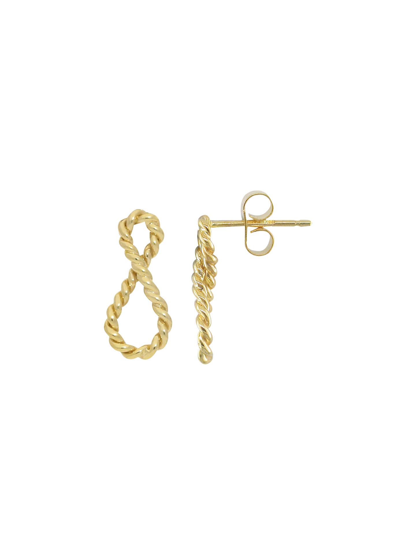 London Road 9ct Gold Infinity Earrings Online At Johnlewis