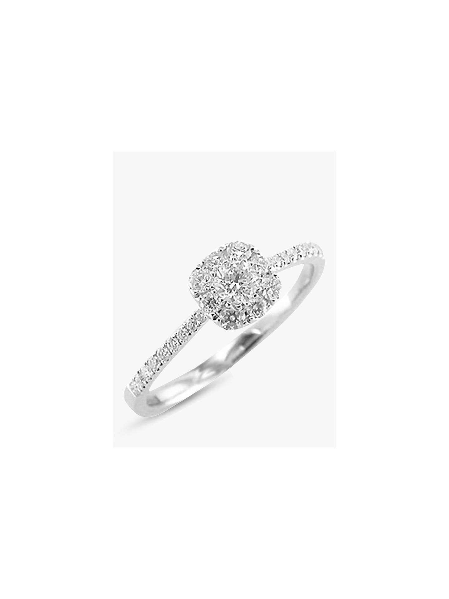 915995000a4295 Buy E.W Adams 18ct White Gold Diamond Cluster Ring, White Gold Online at  johnlewis.