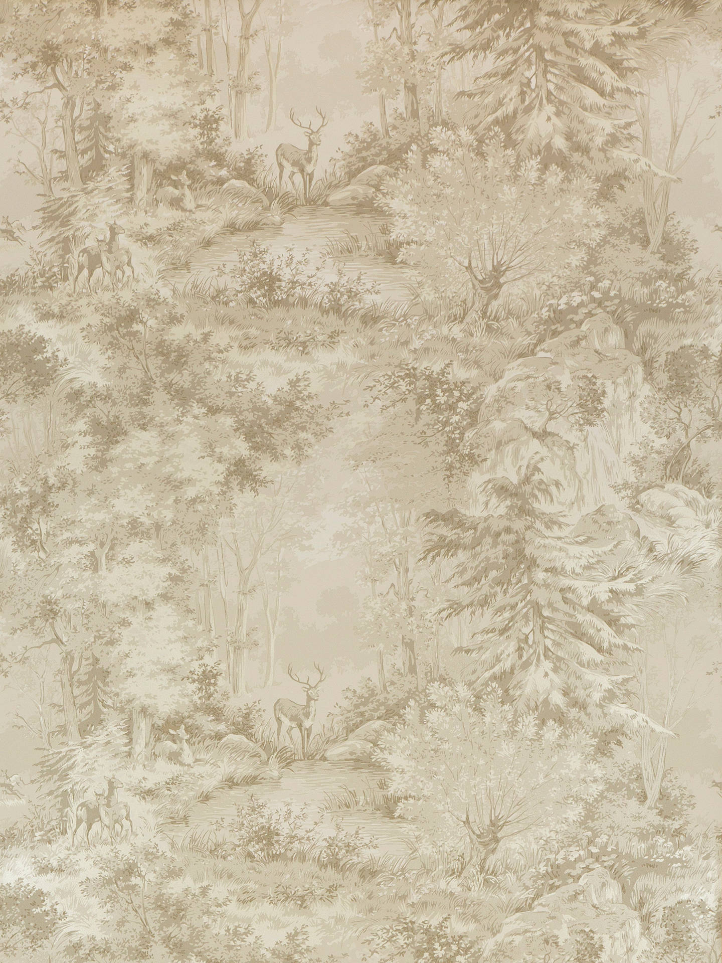 Buy Mulberry Home Torridon Paste the Wall Wallpaper, Sand, FG076.N102 Online at johnlewis.com