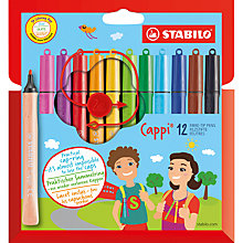 Buy Stabilo Cappi Pens, Pack of 12, Multicoloured Online at johnlewis.com