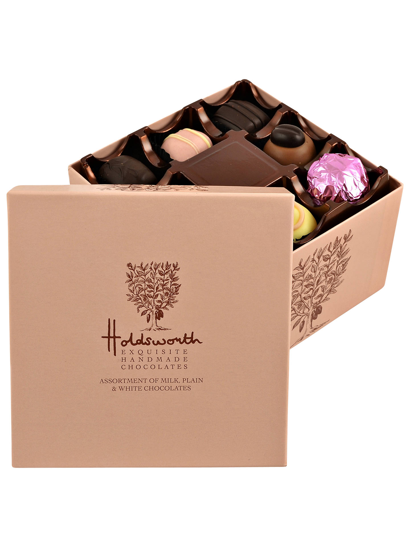 BuyHoldsworth Cube Chocolate Box, Pink, 200g Online at johnlewis.com