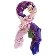 Buy Chesca Palm Print Scarf, Violet/Multi Online at johnlewis.com