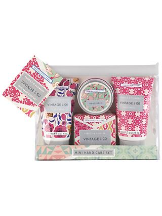 Vintage & Co. Fabric & Flowers Mini Hand Care Set