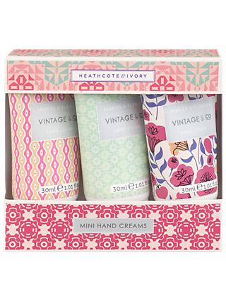 Vintage & Co. Fabric & Flowers Mini Hand Creams