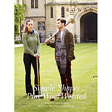 Buy Rowan Simple Shapes Pure Wool Worsted by Martin Storey Knitting Pattern Book Online at johnlewis.com