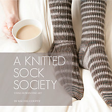 Buy A Knitted Sock Society by Rachel Coopey Knitting Pattern Book Online at johnlewis.com