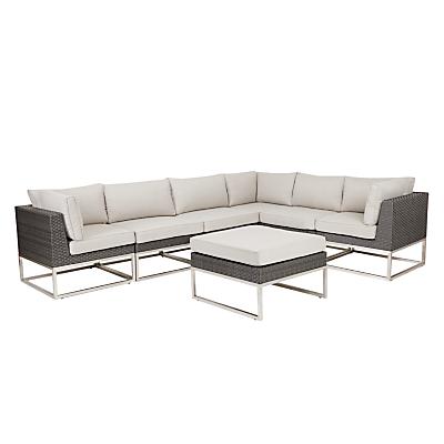 John Lewis Garda Corner Sofa & Footstool Set