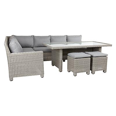 John Lewis Dante Corner Dining Sofa With Table & 2 Footstools