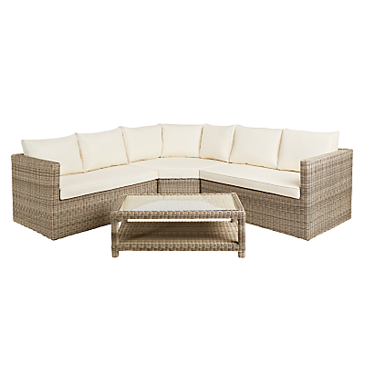 John Lewis Dante Corner Outdoor Lounging Sofa With Table