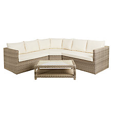 Buy John Lewis Dante Corner Outdoor Lounging Sofa With Table Online at johnlewis.com