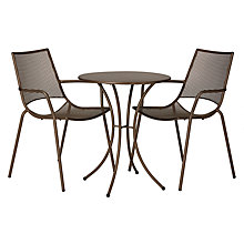 Buy John Lewis Ala Mesh Table & Chairs Bistro Set Online at johnlewis.com