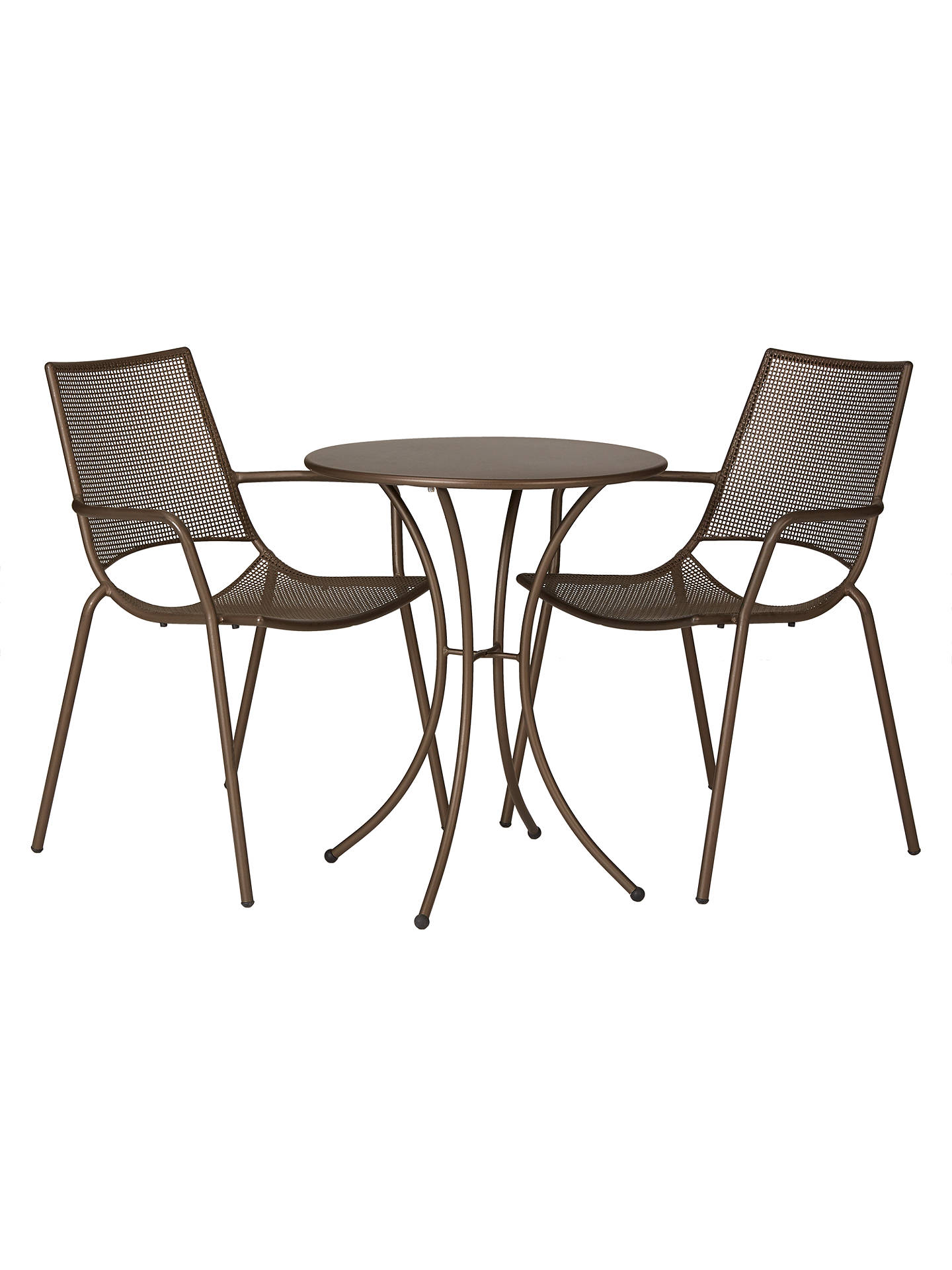 Ala Mesh Garden Table and Chairs Bistro Set, Bronze