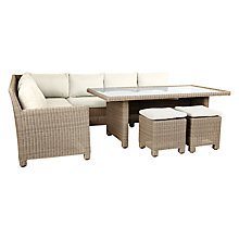 Buy John Lewis Dante Corner Dining Sofa With Table & 2 Footstools Online at johnlewis.com
