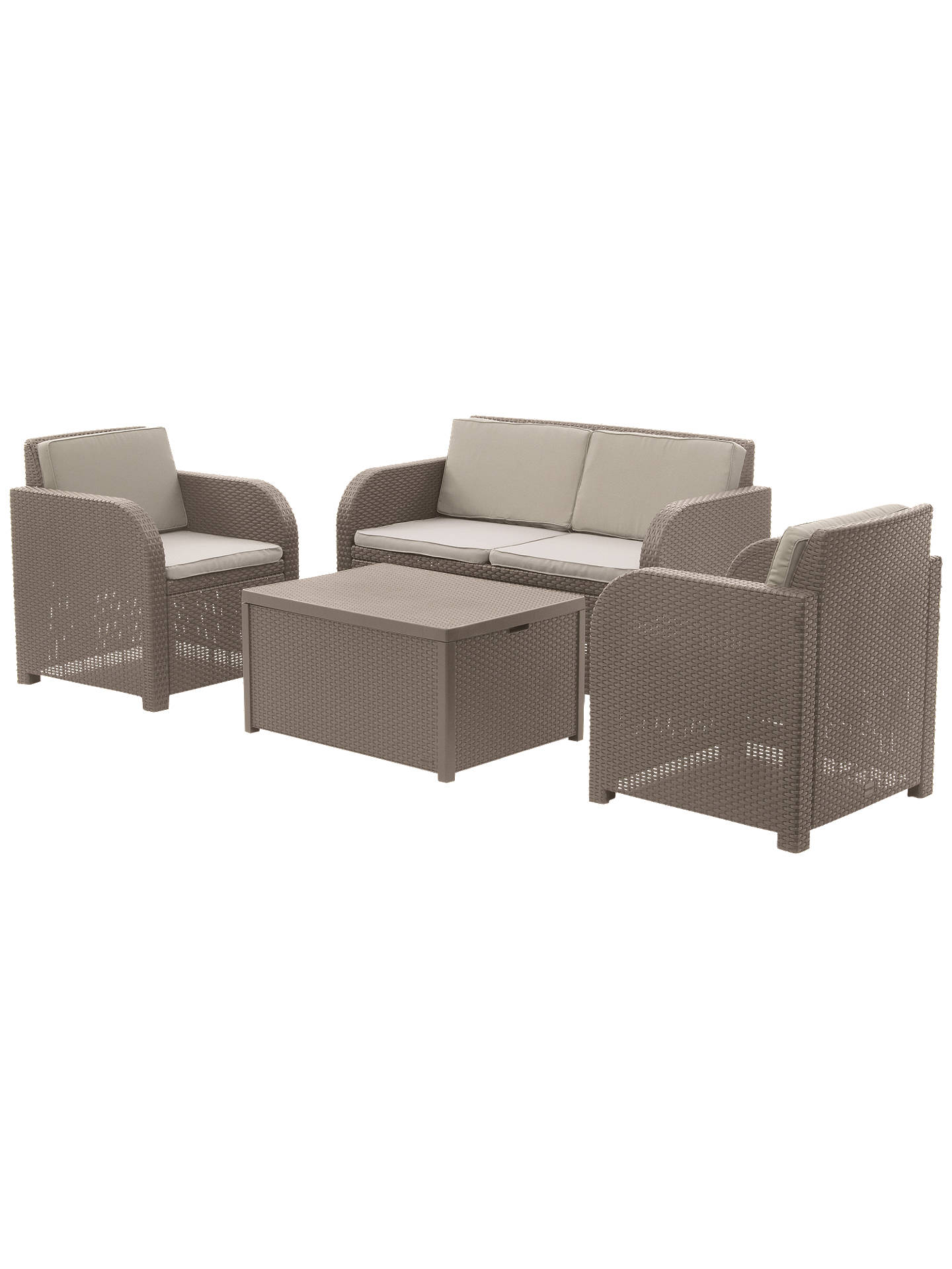 BuyJohn Lewis & Partners Oasis 4 Seater Garden Lounging Set, Cappuccino Online at johnlewis.com