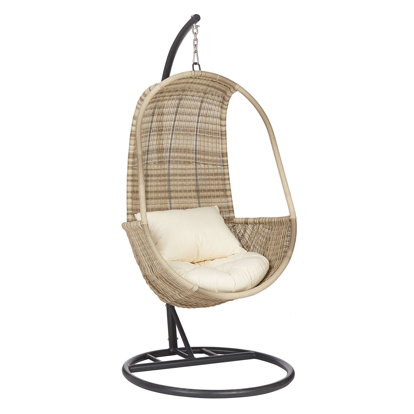 BuyJohn Lewis Dante Pod Hanging Chair, Natural Online At Johnlewis.com ...
