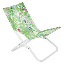 Buy John Lewis Beach Chair, Leaf White Online at johnlewis.com