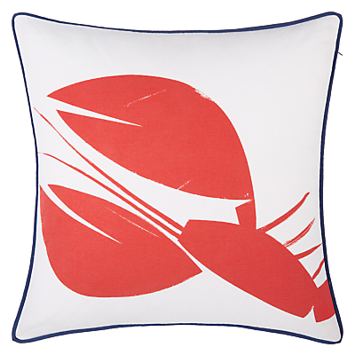 John Lewis Coastal Lobster Outdoor Square Cushion