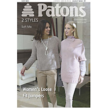 Buy Patons Women's Loose Fit Jumper Knitting Pattern Online at johnlewis.com
