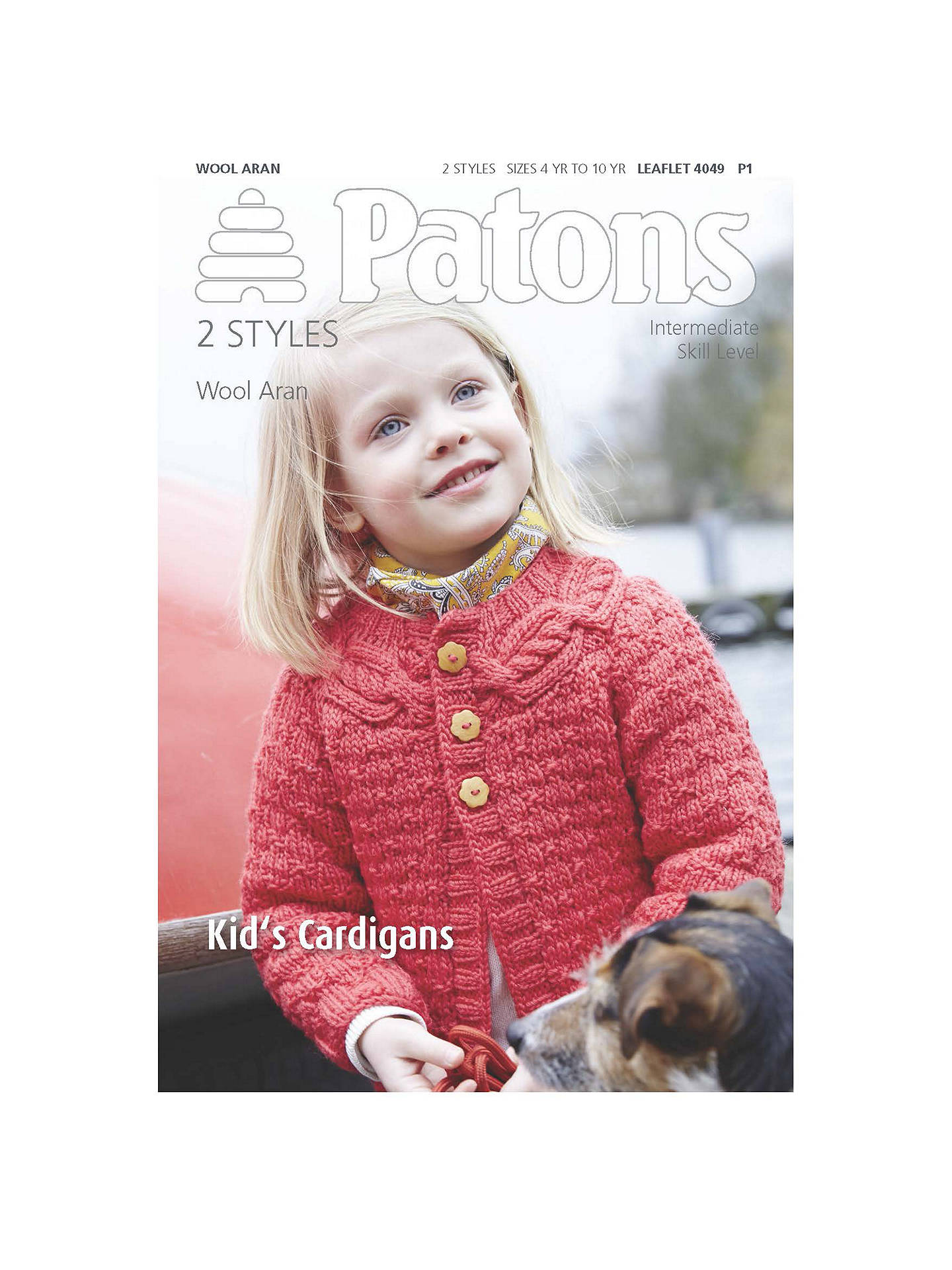 04f01c4da Buy Patons Wool Aran Children s Cardigan Knitting Pattern Online at  johnlewis.com