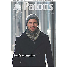 Buy Patons Men's Hat And Scarf Knitting Pattern Online at johnlewis.com