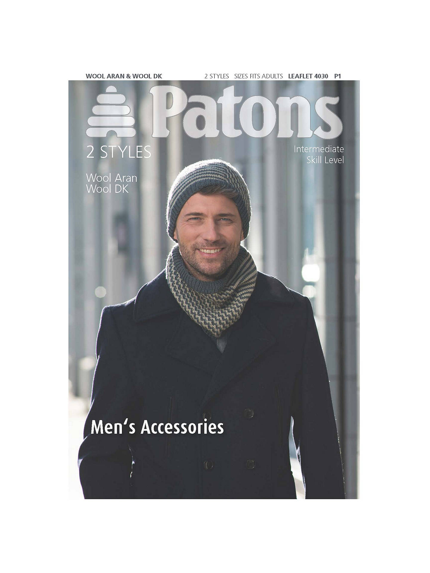 BuyPatons Men s Hat And Scarf Knitting Pattern Online at johnlewis.com 8f7f25cf2b4