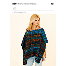 Buy Rico Chunky Melange Poncho And Jacket Knitting Pattern, 266 Online at johnlewis.com