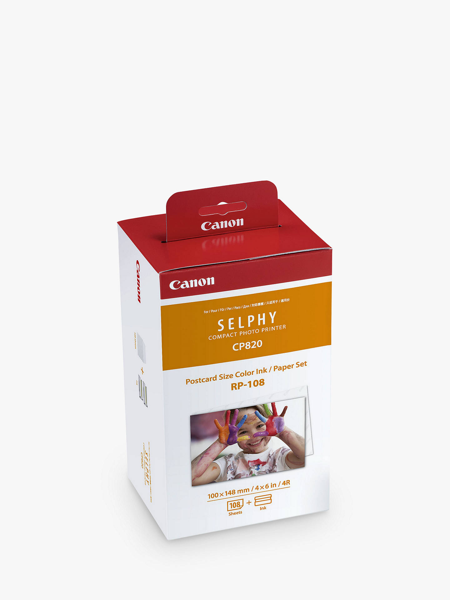 BuyCanon RP-108 Print Pack for SELPHY CP910, CP1200 & CP1300, 108 Prints Online at johnlewis.com