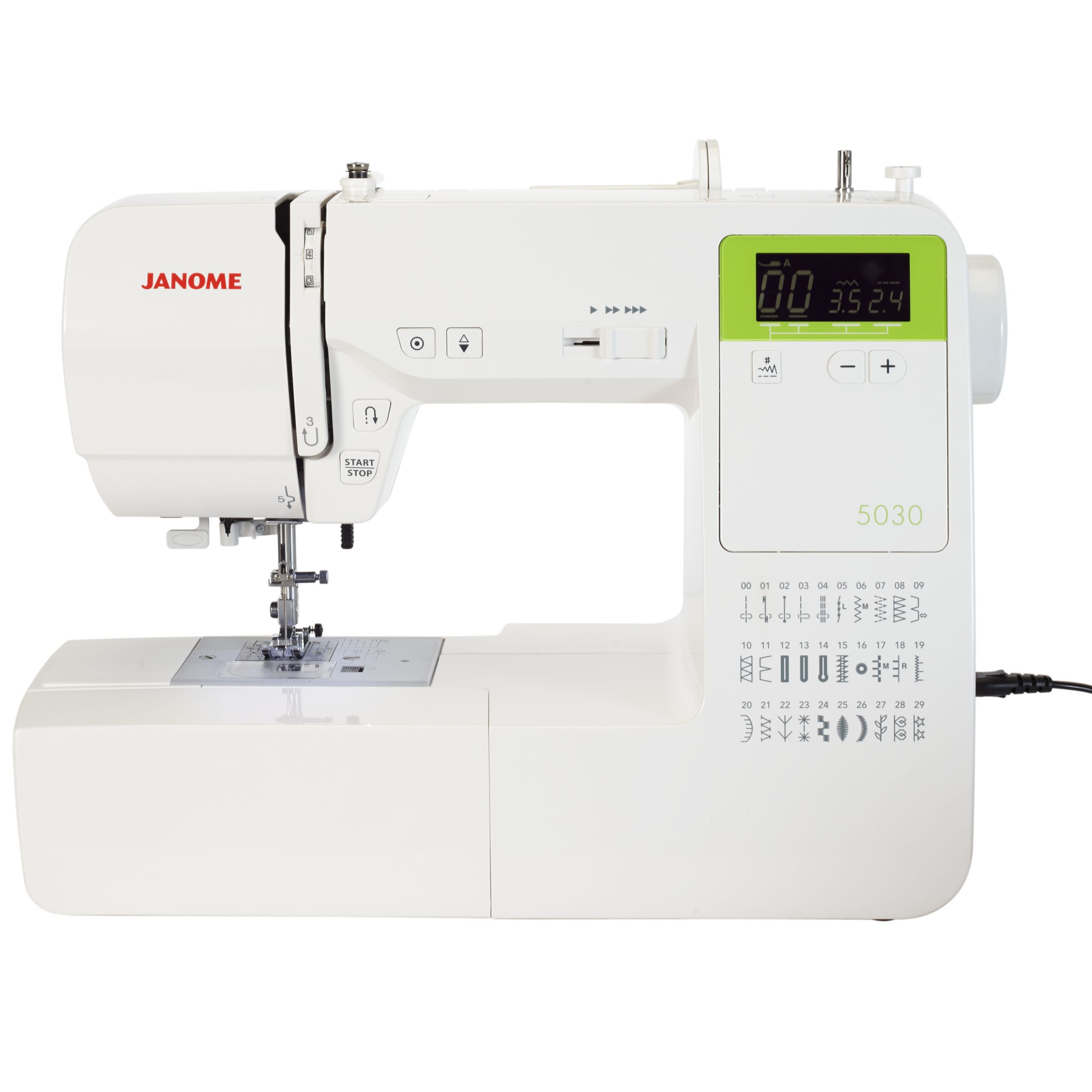 janome 5030 sewing machine white at john lewis partners rh johnlewis com Janome Embroidery Design Library Janome 350E Tutorials