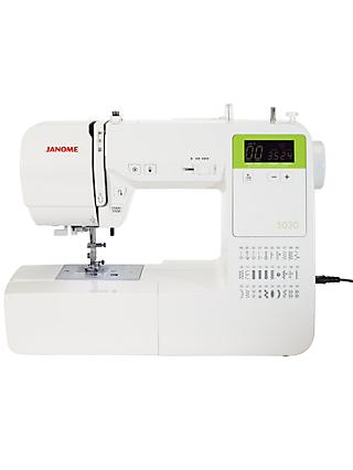 Janome 5030 Sewing Machine, White