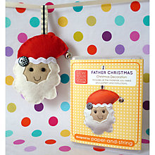 Buy Paper And String Sew Your Own Father Christmas Decoration Mini Kit Online at johnlewis.com