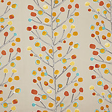 Buy Scion Berry Tree Furnishing Fabric, Natural / Orange Online at johnlewis.com
