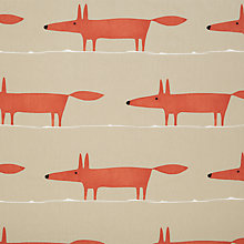 Buy Scion Mr Fox Furnishing Fabric, Neutral  / Paprika Online at johnlewis.com